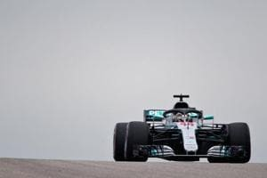 Lewis Hamilton driving the (44) Mercedes AMG Petronas F1 Team Mercedes WO9 on track during final practice for the United States Formula One Grand Prix.
