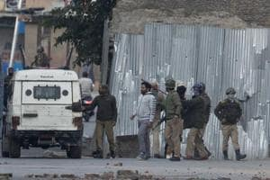 As the cordon was tightened, the militants fired at the security forces, police said.