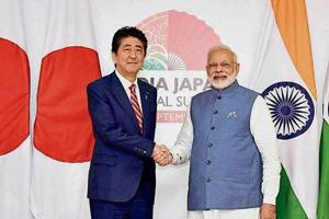 "A Japanese envoy said their PM Shinzo Abe is planning ""a very personal arrangement and discussion"" with Narendra Modi."