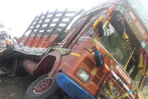 At least five people were killed and 10 to 12 others injured after the private bus they were travelling in rammed into a truck on Pune-Ahmednagar highway on Monday morning, police said.