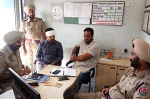 The victim Jagsir Singh gives statement to police.