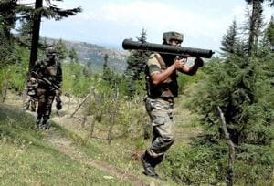 Sunday's gunfight in Sunderbani sector of Jammu left three Indian soldiers and two Pakistani intruders dead.