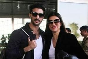 Sushmita Sen was seen with a friend at the airport.