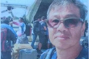 Singaporean paraglider Kok Choonk Na went missing on Monday.