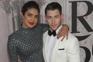 The glamourous couple Priyanka Chopra and Nick Jonas pose at the Ralph Lauren 50th Anniversary Event during New York Fashion Week on Friday in September this year.