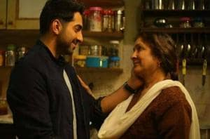 Neena Gupta and Ayushmanna Khurrana in Badhaai Ho.