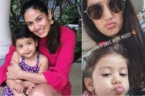 Mira Rajput took daughter Misha on a lunch date on Saturday. Looks like pizza is on menu.