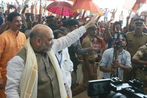 BJP president Amit Shah in Kannur onSaturday.