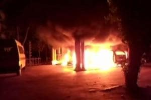 The ashram was attacked by unidentified assailants early on Saturday morning in Thiruvananthapuram.