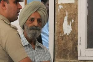 Police produce the murder accused Harnek Singh in court, who was arrested for his wife
