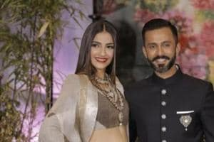 Sonam Kapoor and husband Anand Ahuja celebrated their first Karwa Chauth in a novel way.