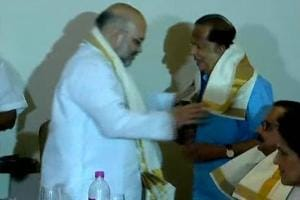 BJP president Amit Shah was in Kerala on Saturday to inaugurate the party office in Kannur.