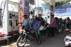 Petrol was sold at ₹85.85 per litre (decrease by ₹0.35) and diesel was priced at ₹76.70 per litre (decrease by ₹0.24) in Pune city.