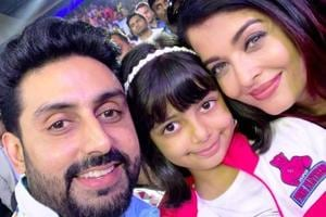 Aishwarya Rai Bachchan has given us a peek into her family life, sharing a handful of sweet photos with daughter Aaradhya and husband Abhishek Bachchan on social media. (Instagram)