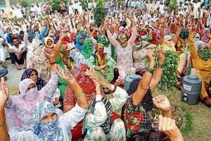 Khap panchayats and sarpanches came out in support of Haryana Roadways employees and held a protest march in Rohtak on Monday.
