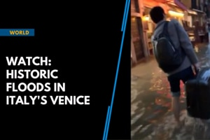 Watch: Venice is 75% under water as Italy grapples with flooding