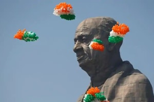 Prime Minister Narendra Modi on Wednesday inaugurated the world's tallest statue dedicated to India's first home minister, Vallabhbhai Patel, on his 143rd birth anniversary at Kevadiya in Gujarat's Narmada district.