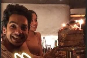 In an Instagram story shared by Mira Rajput, Ishaan Khatter is ecstatic to see his birthday cake. Seated next to him is Janhvi Kapoor.