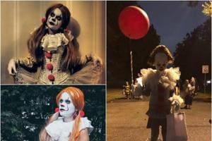 Fans went all out this Halloween, dressing up as Pennywise the clown from It.