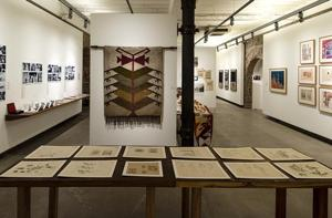 Exhibits on display at IMPACT: Design thinking and the visual arts in young India.