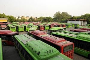 Several contractual employees of DTC transport agency have been boycotting work since October 22, demanding 'equal pay for equal work' and regularisation of their posts
