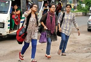 Students from the north east at New Delhi's North Campus.