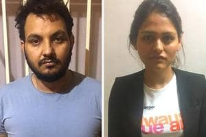 Delhi Police have arrested a  model Angel Gupta (right) and Manjeet ,  the husband of Sunita, a school teacher who was dead in outer Delhi's Bawana on October 29, 2018.