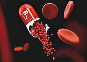 Vitamin B12 helps with cell reproduction and constant skin renewal