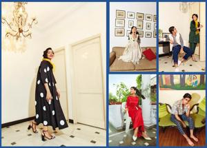Sporting vintage just became fashionable. (Location Courtesy: Sirohi House, New Delhi; Art direction: Amit Malik; Make-up and hair: Vidya Tikari Studio;Models: Yashvika Ghai (Ninjas Model Management) and Ransher (Inega))