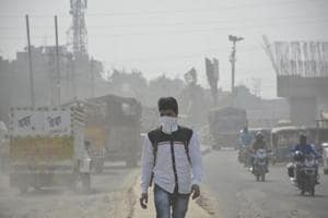 The air quality of Ghaziabad was recorded at 377 in the 'very poor' category.