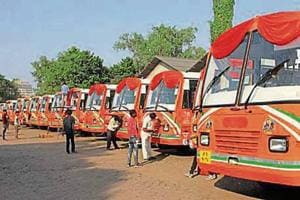 Fifty-one buses, all painted in saffron, were flagged off by Uttar Pradesh chief minister Yogi Adityanath recently.