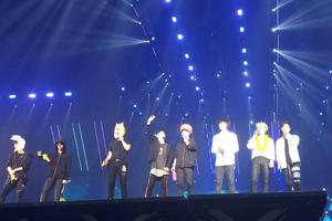 K-pop band EXO during their performance in Bangkok on March 16.