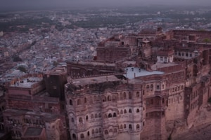 The Mehrangarh Fort was built in 1460 and has also been featured in The Dark Knight Rises.