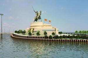 An artist's impression of the Chhatrapati Shivaji Memorial.