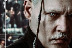 Johnny Depp as dark wizard Gellert Grindelwald in Fantastic Beasts: The Crimes of Grindelwald.