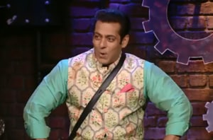Salman Khan was in his Diwali attire for Sunday's episode of Bigg Boss.