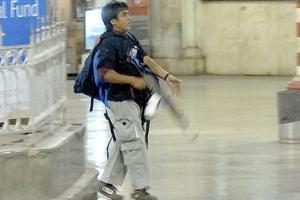 Ajmal Kasab entered Chhatrapati Shivaji Terminus railway station and started firing indiscriminately during the 26/11 terror attacks in Mumbai.