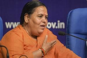 Minister for Drinking Water and Sanitation Uma Bharti
