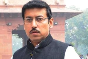 Minister of state for information and broadcasting Rajyavardhan Singh Rathore.