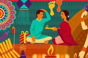Two days after Diwali comes the festival of Bhai Dooj, a celebration of the love between brother and sister.