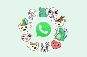 WhatsApp stickers are similar to Messenger stickers.