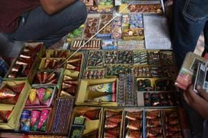Most firecracker sellers are offering two options: home delivery, with half the cost being paid upfront; or an over-the-counter sale of firecrackers not costing more than Rs 500.