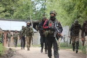 Two militants, including a deserter from the Indian Army, was killed in a gun battle with security forces in south Kashmir's Shopian district, police said.