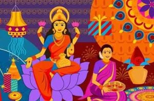 Lakshmi Puja will be celebrated by offering prayers to Goddess Lakshmi on November 7