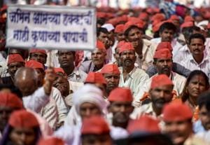 Over 35,000 farmers from across Maharashtra, who embarked on a 'Long March' from Nashik on March 6 to press their various demands, reached Azad Maidan Mumbai, March 12, 2018