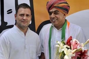 After joining Congress in October, veteran BJP leader Jaswant Singh's son, Manvendra Singh (right) had said  that no one from his family will contest the Rajasthan assembly elections.