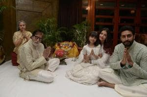 Family time for Amitabh Bachchan this Diwali.