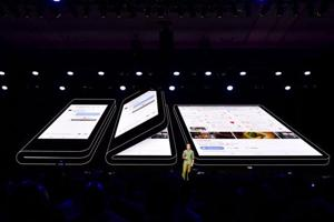 Samsung unveils its foldable smartphone