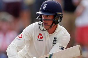 Keaton Jennings plays a shot during Day 3 of the first Test match against Sri Lanka.