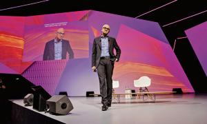 The epitome of the made-in-India manager:Satya Nadella, chief executive officer of Microsoft Corp. at a technology conference in Paris, France, in May 2018.
